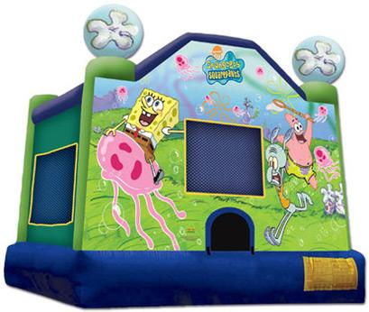 15x15 Sponge Bob Jumper - Bounce House Rentals