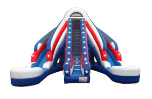 Stars and Stripes 20' Dual Lane Inflatable Slide Rentals