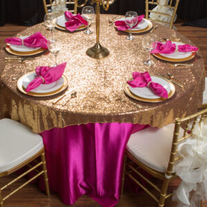 Gold Sequin Overlay