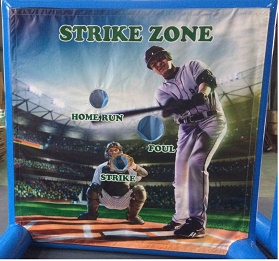 Baseball toss rental game