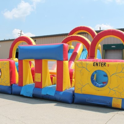 Inflatable Adrenaline Rush Obstacle Course