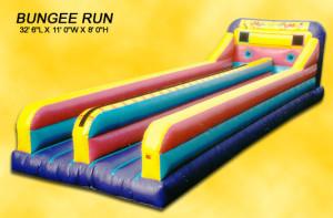 Inflatable Bungee Run 2 Lane Rental