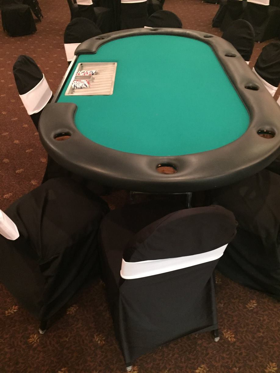 Poker Table Rental (Texas Holdem) - Party Rentals, Corporate