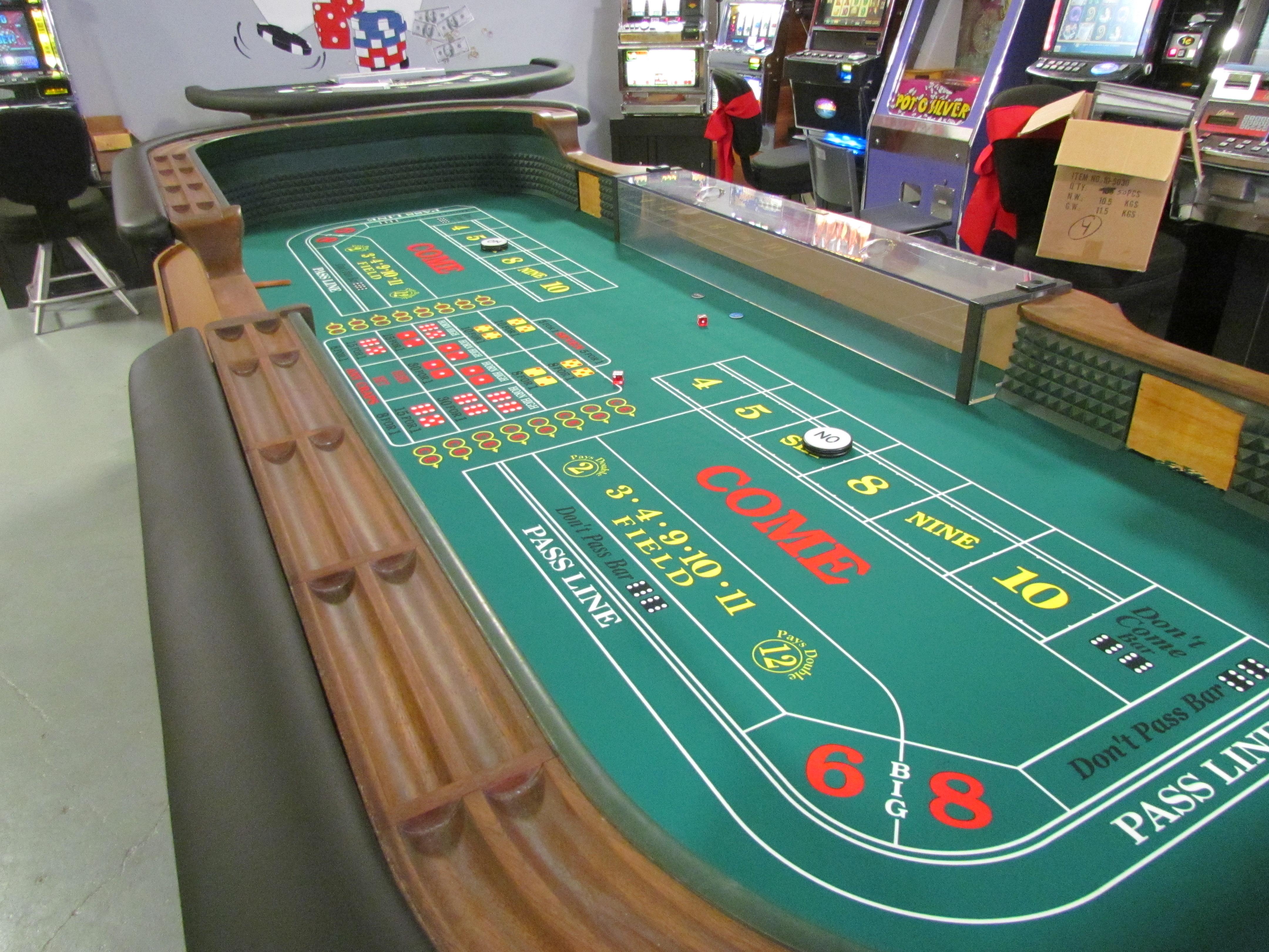 Craps Table Casino Game Rentals