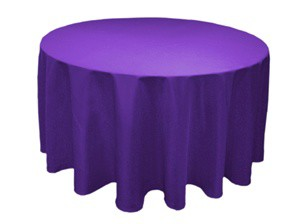Purple120' Round Tablecloth
