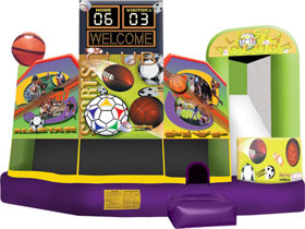 Sports 5 In 1 Combo - Bounce House Rental