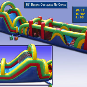 68' Ultimate Inflatable Obstacle Course