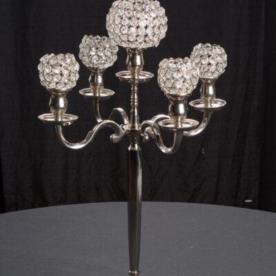 Centerpiece Silver Candleabra Rentals