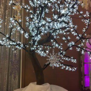 White LED Flowering Tree