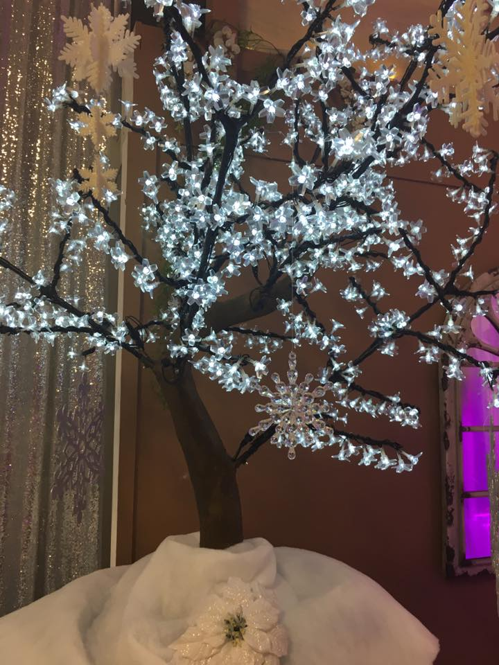White LED Flowering Tree