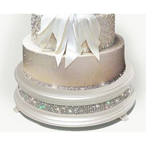 White & Diamond Cake Stand