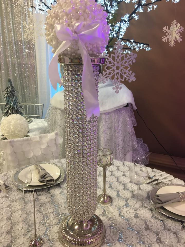 Tall Crystal Centerpiece