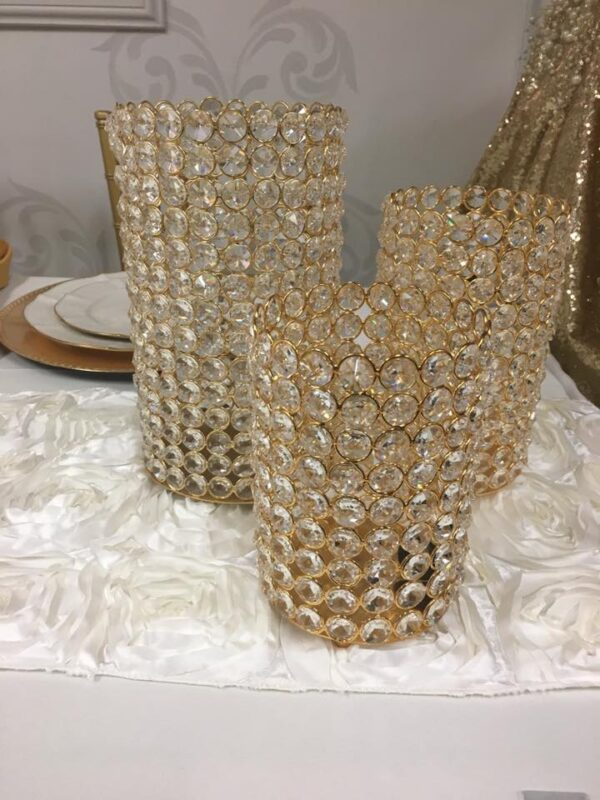 Gold Crystal Cylinders