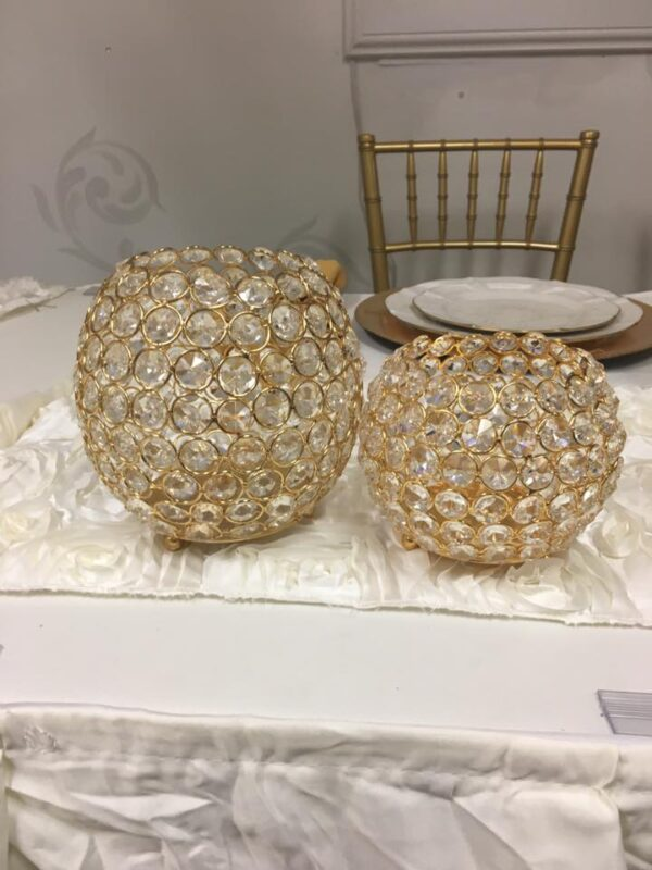 Gold Crystal Cylinders - Round