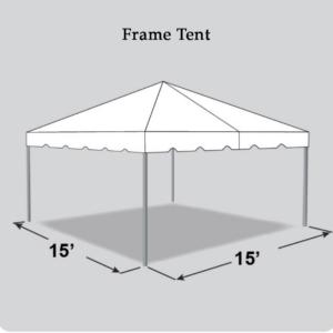 15x15 frame tent rental