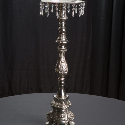 "30"" Silver & Crystal Candlestick"