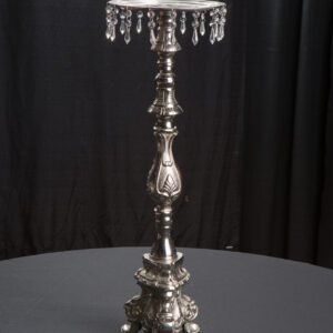 """30"""" Silver & Crystal Candlestick"""