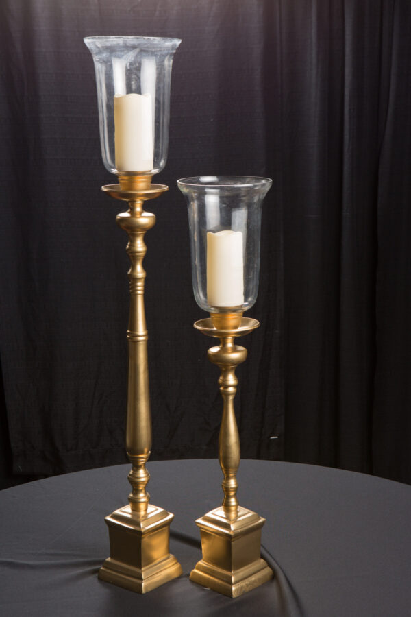 Gold Square Candlesticks