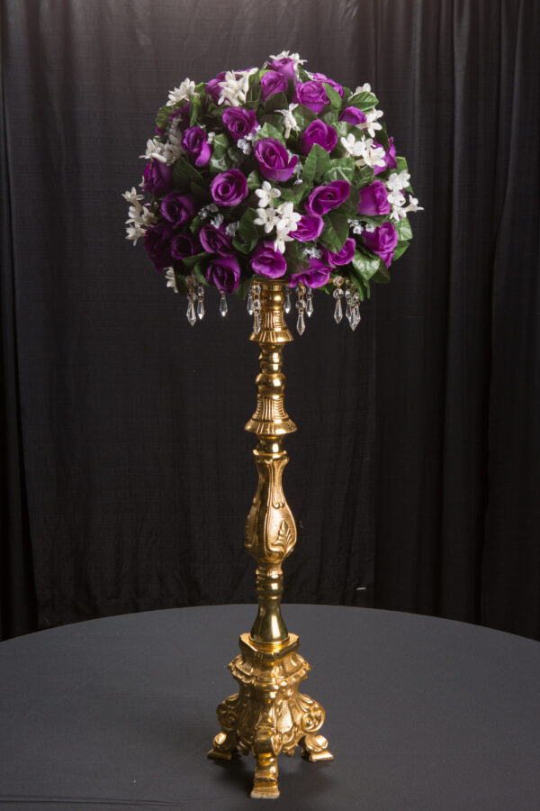 30″ Gold & Crystal Candlestick
