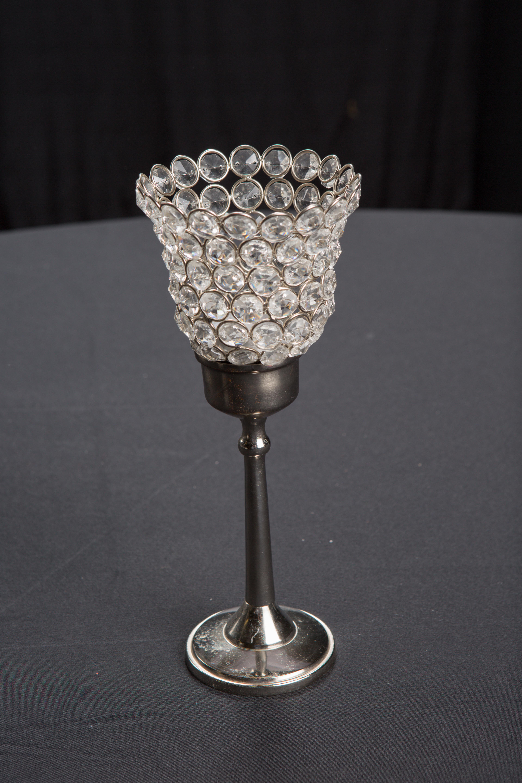 Short Crystal Candlestick