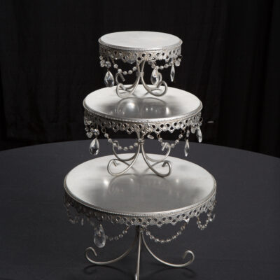 Pewter & Crystal Cake Stand