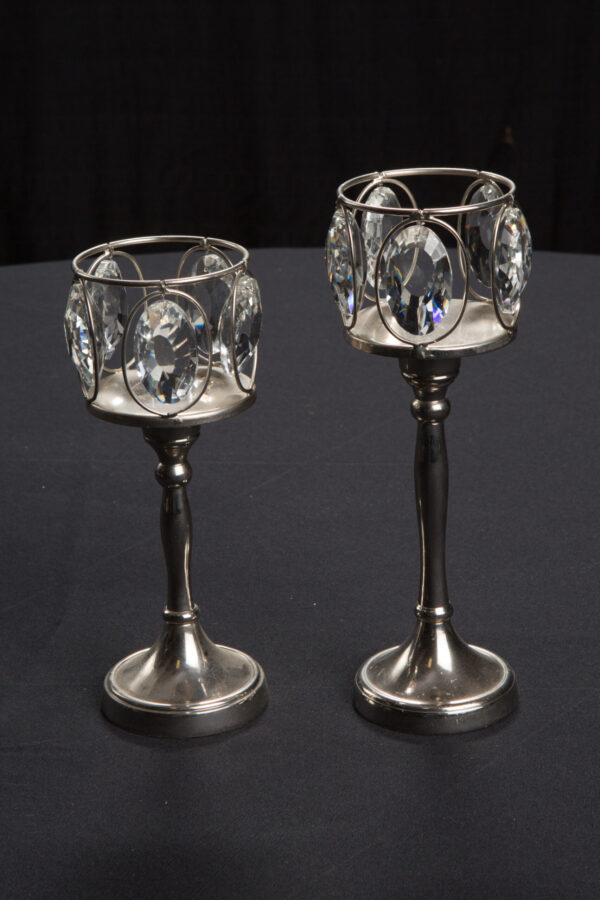 Crystal Accent Candlesticks