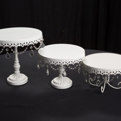 White Crystal Cake Stands