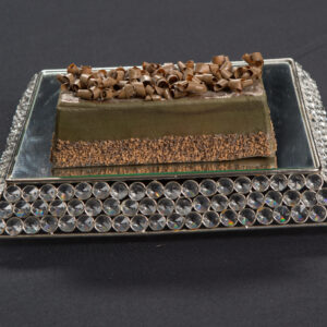 Square Crystal Mirror Cake Stand