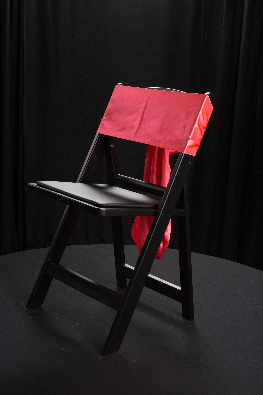 Red Satin Chair Sash