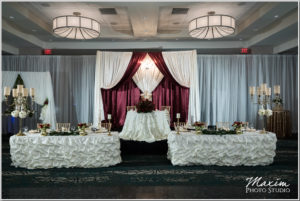 Burgundy and Ivory Backdrop