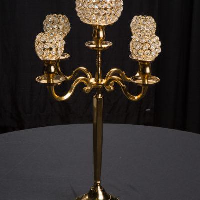 Centerpiece Gold Candleabra Rentals