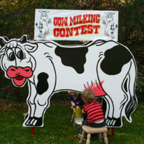 cow milking game rental
