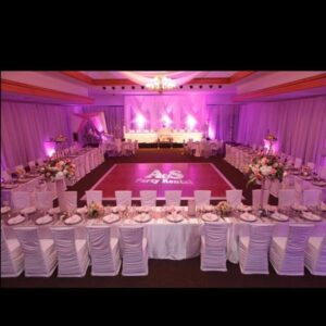 Pink and White Wedding Backdrop