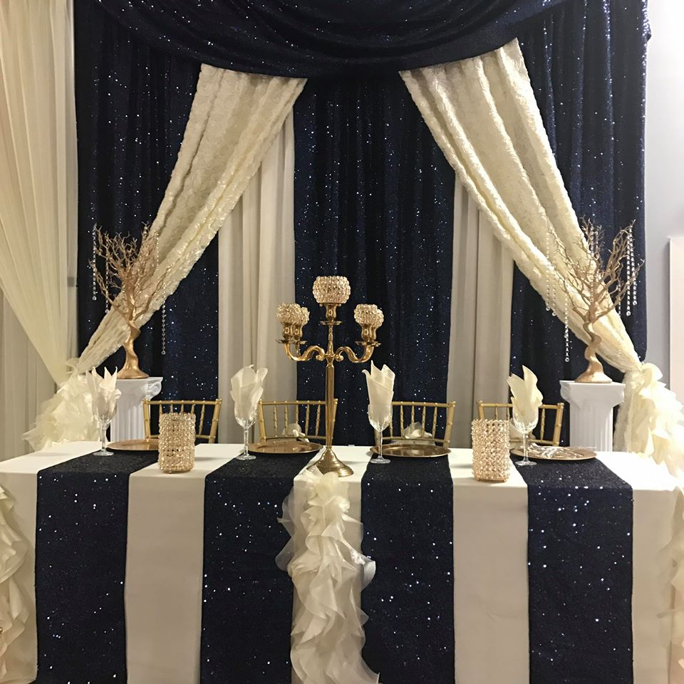 Navy ivory wedding