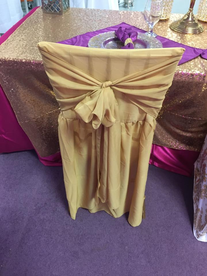 Chiffon Chair Cape