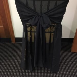 Black Chiffon Chair Cover
