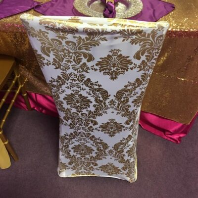 Spandex Gold Design Chair Cover