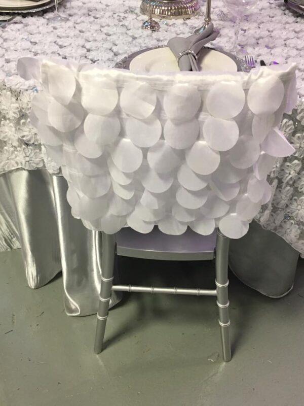 White Circle Chair Cap