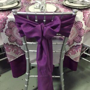 Polyester Purple Sash