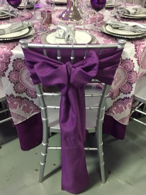 Polyester Purple Sash