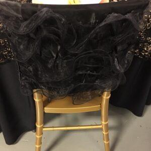 Black Ruffle Chair Cap