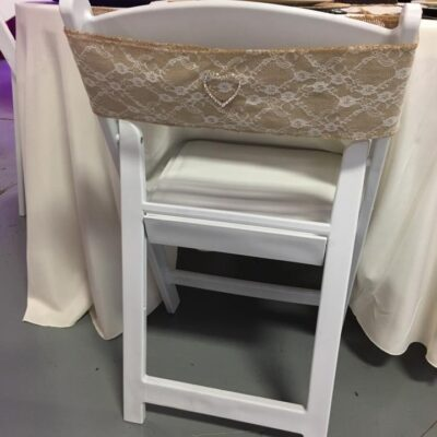 Burlap Lace Chair Sash