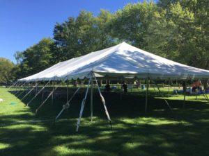 40' x 100' Pole Tent Rental Cincinnati Dayton