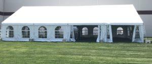 40 wide frame tent rentals