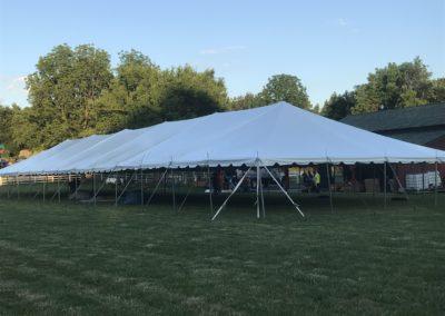 40 x 140 pole tent rental