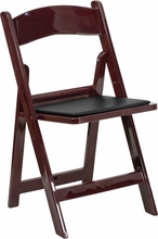 mahogany folding chair rental