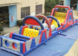 NASCAR inflatable obstacle course rental