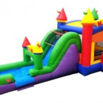 Rainbow Wet Dry Inflatable Combo Rental
