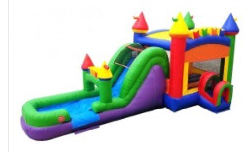 Rainbow Wet Dry Inflatable Combo Rental