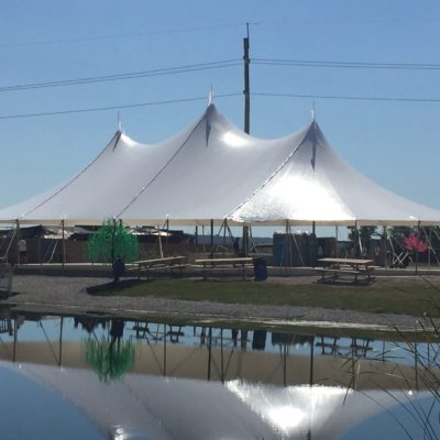stillwater 57 x 96 sail cloth pole tent rental
